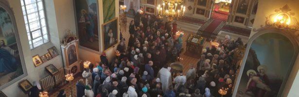 Богослужения праздника Крещения Господня прошли в Сретенском храме